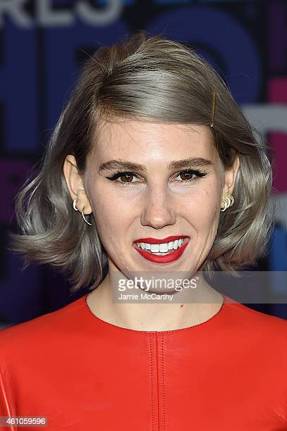 "Zosia Mamet attends the ""Girls"" season four series premiere at American Museum of Natural History on January 5, 2015 in New York City."