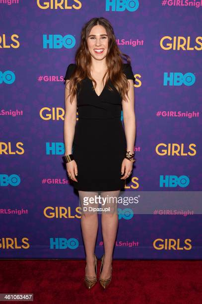 "Zosia Mamet attends the ""Girls"" season three premiere at Jazz at Lincoln Center on January 6, 2014 in New York City."