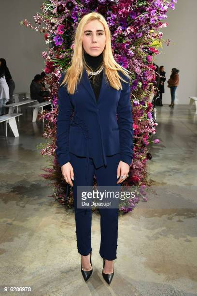 Zosia Mamet attends the Jason Wu front row during New York Fashion Week The Shows at Gallery I at Spring Studios on February 9 2018 in New York City