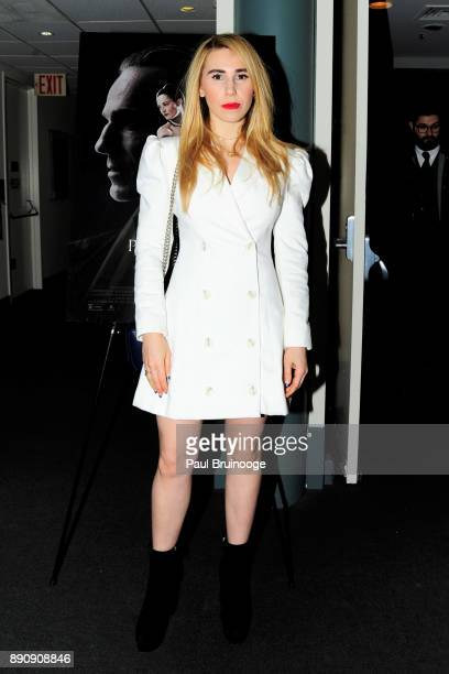 Zosia Mamet attends the New York premiere of Phantom Thread at The Film Society of Lincoln Center Walter Reade Theatre on December 11 2017 in New...