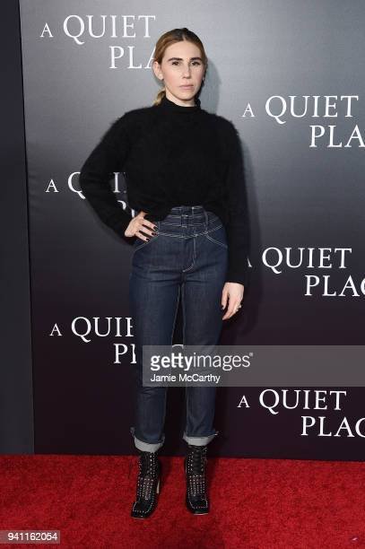 Zosia Mamet attends the premiere for 'A Quiet Place' at AMC Lincoln Square Theater on April 2 2018 in New York City