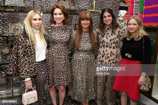 Zosia Mamet Ellie Kemper Deborah Lloyd Leandra Medine and Tavi Gevinson attend the Leopard Leopard Leopard PopUp Shop hosted by Kate Spade New York...