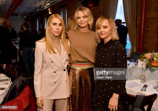 Zosia Mamet Jennifer Morrison and Christina Ricci attend the Jury Welcome Lunch 2018 Tribeca Film Festival at Tribeca Grill Loft on April 19 2018 in...