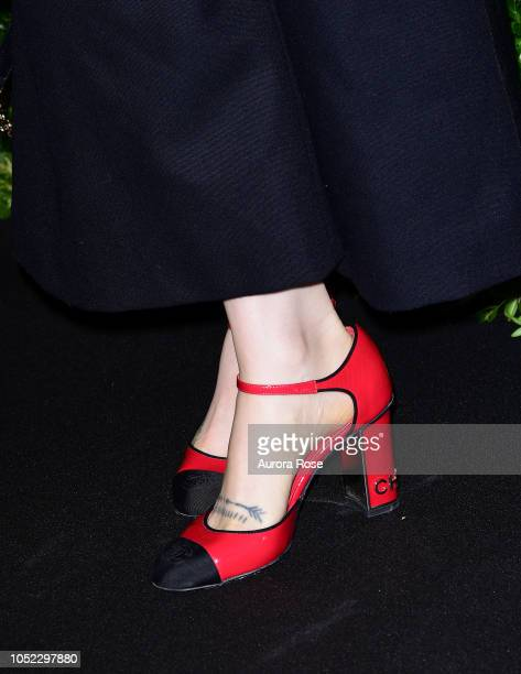 Zosia Mamet shoe detail Attends Through Her Lens The Tribeca Chanel Women's Filmmaker Program Annual Luncheon at Locanda Verde on October 16 2018 in...