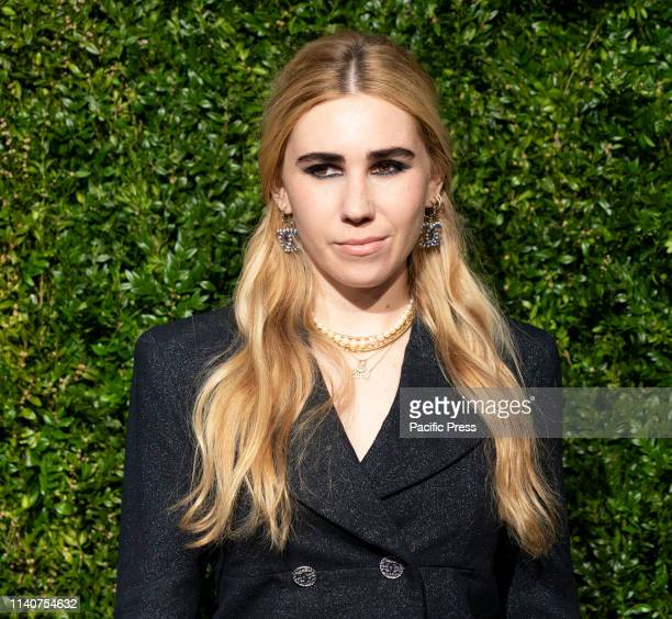 Zosia Mamet wearing Chanel attends the Chanel 14th Annual Tribeca Film Festival Artists Dinner at Balthazar.