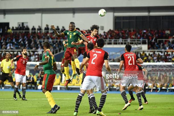 Zoua Jacques of Cameroon and Ahmed Elsayed Ali Elsayed Hegazi of Egypt during the African Nations Cup Final match between Cameroon and Egypt at Stade...