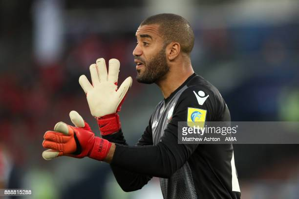 Zouhair Laaroubi of Wydad Casablanca gestures during the FIFA Club World Cup UAE 2017 match between CF Pachuca and Wydad Casablanca at Zayed Sports...
