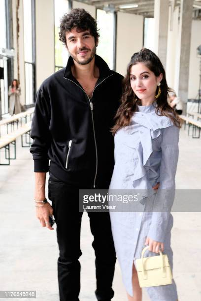Zouheir Zerhouni and Claire Chust attend the Dawei Womenswear Spring/Summer 2020 show as part of Paris Fashion Week on September 24 2019 in Paris...