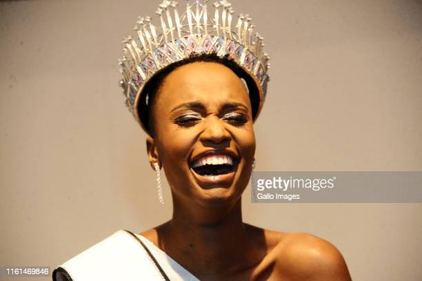 Zozibini Tunzi after being crowned Miss South Africa 2019 at the Time Square Sun Arena on August 09 2019 in Pretoria South Africa Tunzi from Tsolo in...