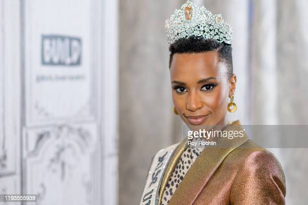Zozibini Tunzi discusses Miss Universe wit the Build Series at Build Studio on December 12 2019 in New York City