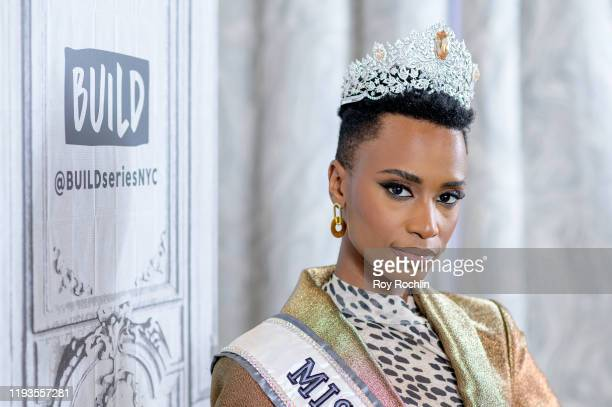 Zozibini Tunzi discusses Miss Universe with the Build Series at Build Studio on December 12 2019 in New York City