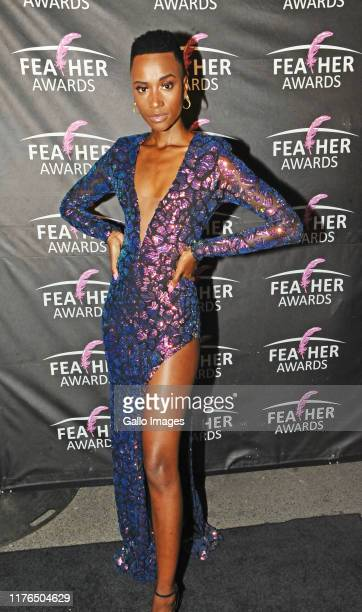 Zozibini Tunzi during the 2019 Feather Awards held at Fox Junction on October 17 2019 in Johannesburg South Africa The annual Feather Awards event...