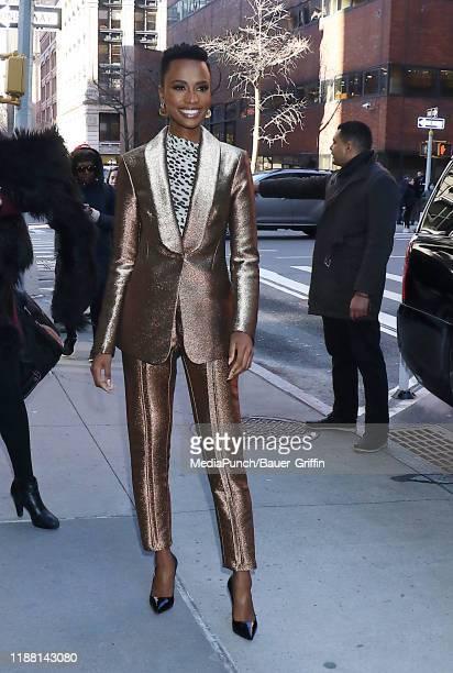 Zozibini Tunzi is seen on December 12, 2019 in New York City.