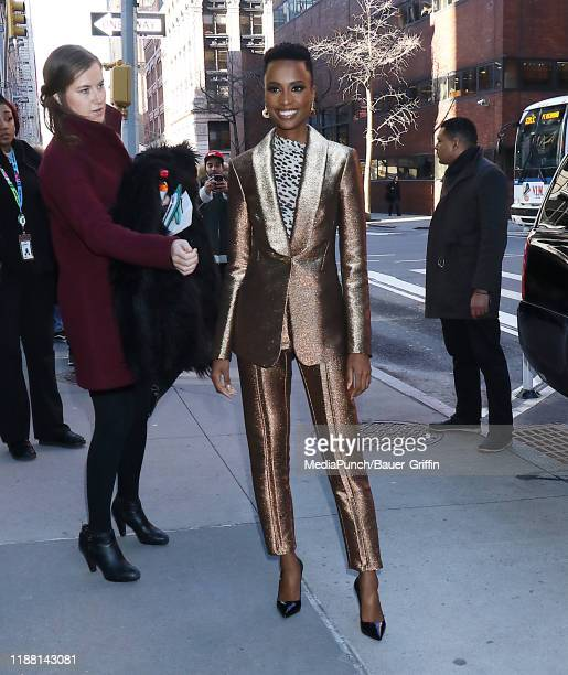 Zozibini Tunzi is seen on December 12 2019 in New York City