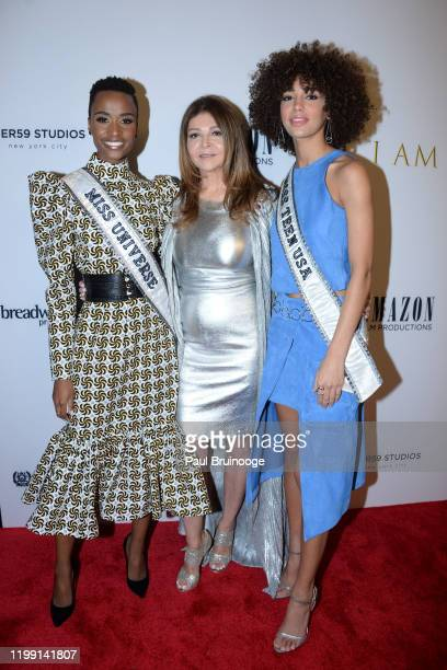 Zozibini Tunzi Sonia Nassery Cole and Kaliegh Garris attend New York Premiere Of I Am You at Pier 59 Studios on February 6 2020 in New York City