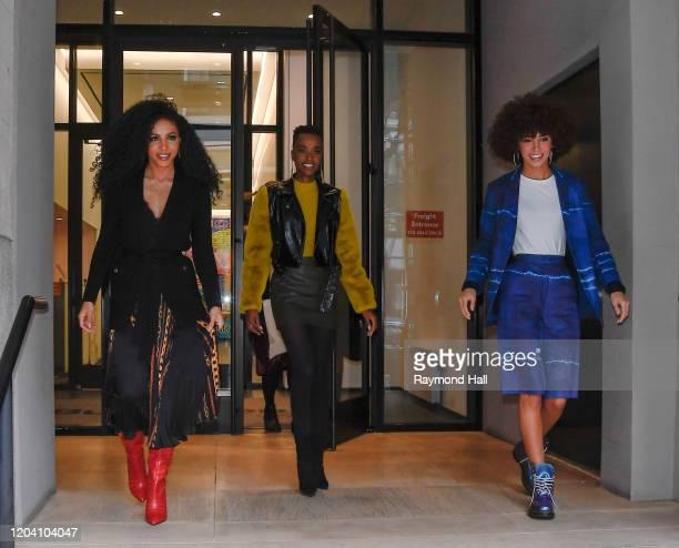 Zozibini TunziCheslie KrysKaliegh Garris are seen in soho on February 28 2020 in New York City