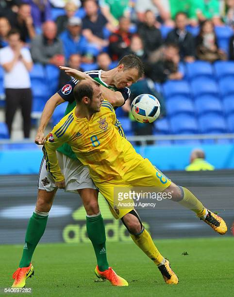 Zozulya of Ukraine in action against Cathcart of Republic of Ireland during the UEFA EURO 2016 Group E match between Ukraine and Republic of Ireland...