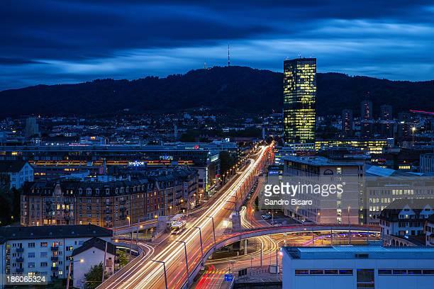Zürich cityscape at night