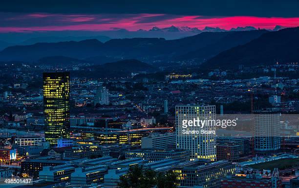 Zürich Skyline at sunset
