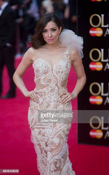 Zrinka Cvitesic attends the Laurence Olivier Awards at The Royal Opera House on April 13 2014 in London England