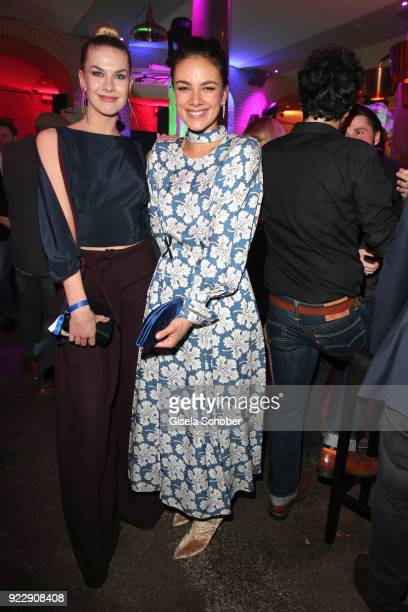 Zsa Zsa Buerkle Janina Uhse during the BUNTE BMW Festival Night 2018 on the occasion of the 68th Berlinale International Film Festival Berlin at...