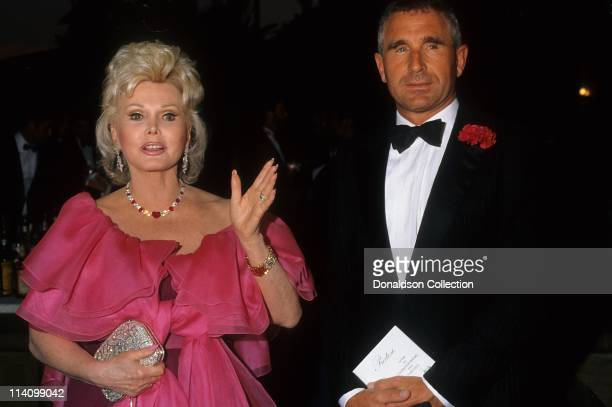 Zsa Zsa Gabor and Frederic Prinz Von Anhalt at Bel Age Hotel Event in February 1988 in Los Angeles California
