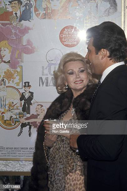 Zsa Zsa Gabor and Guest during 'Mame' Los Angeles Premiere at Pacific Cinerama Dome Theatre in Hollywood California United States
