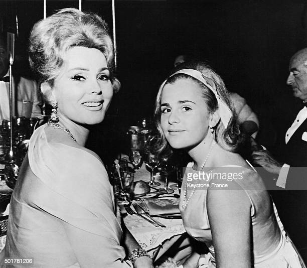 Zsa Zsa Gabor and her daughter Francesca Hilton, also daughter of tycoon Conrad Hilton, attend the City Of Hope's Golden anniversary party on July...