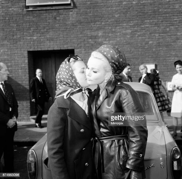 Zsa Zsa Gabor at London Airport with her daughter Francesca Hilton after flying from from Nice en route to Los Angeles 7th August 1964