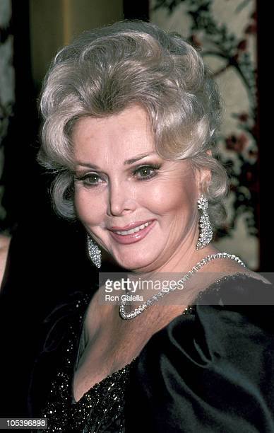 Zsa Zsa Gabor during Sammy Davis Jr Honored At The Candy Man Ball By Temple Beth Am at Beverly Hilton Hotel in Beverly Hills California United States