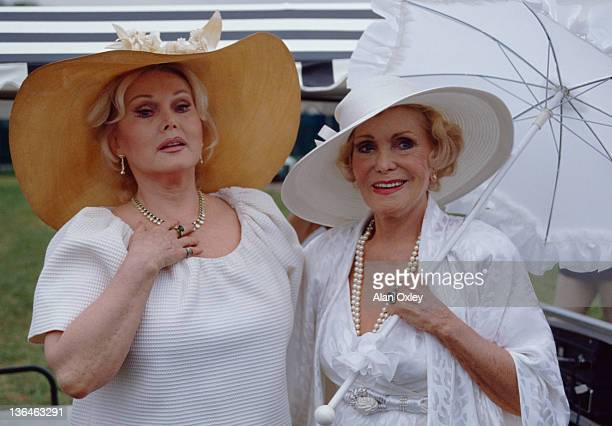 Zsa Zsa Gabor with her mother Jolie at a croquet game in Boca Raton Florida in April 1984 She was 67 at the time although there is some question...