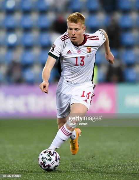 Zsolt Kalmar of Hungary during the FIFA World Cup 2022 Qatar qualifying match between Andorra and Hungary at Estadi Nacional on March 31, 2021 in...