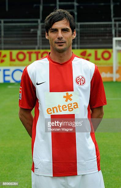 Zsolt Loew poses during the Mainz 05 team presentation at the Bruchweg stadium on July 10 2009 in Mainz Germany