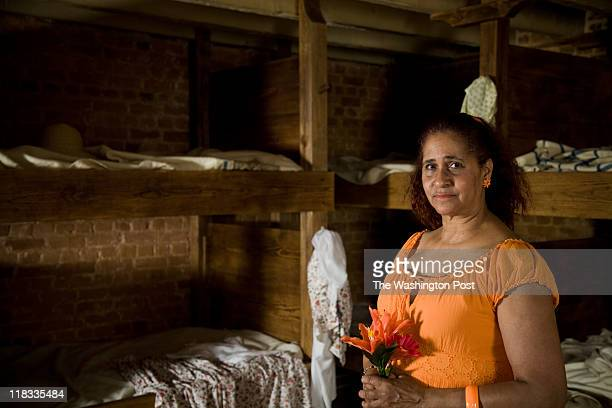 ZSunnee MillerMatema in the Slave Quarters at Mount Vernon on May 25 2011 in Mount Vernon Virginia