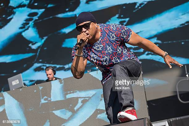 Trip and rapper LL Cool J performs onstage during weekend two, day two of Austin City Limits Music Festival at Zilker Park on October 8, 2016 in...