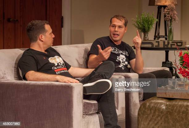 Trip and Shepard Fairey during the GRAMMY Pro In The Studio Lollapalooza at Art Institute Of Chicago on July 31, 2014 in Chicago, Illinois.