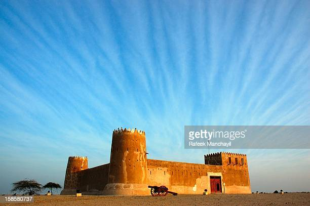zubara fort - qatar - doha stock pictures, royalty-free photos & images