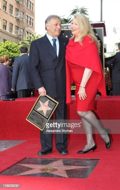 Zubin and Nancy Mehta at Zubin Mehta's star ceremony on Hollywood Walk of Fame on March 1 2011 in Hollywood California