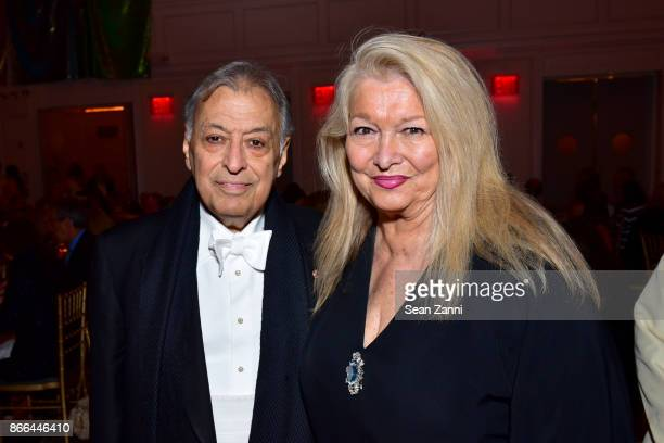 Zubin Mehta and Nancy Kovack attend the Israel Philharmonic Orchestra Gala at 583 Park Avenue on October 25 2017 in New York City