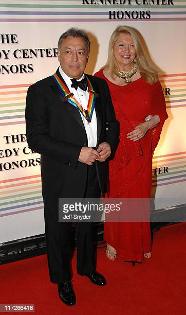 Zubin Mehta and wife Nancy during 29th Annual Kennedy Center Honors at John F Kennedy Center for the Performing Arts in Washington DC United States