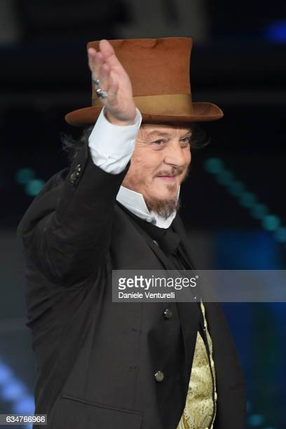 Zucchero attends the closing night of 67th Sanremo Festival 2017 at Teatro Ariston on February 11 2017 in Sanremo Italy