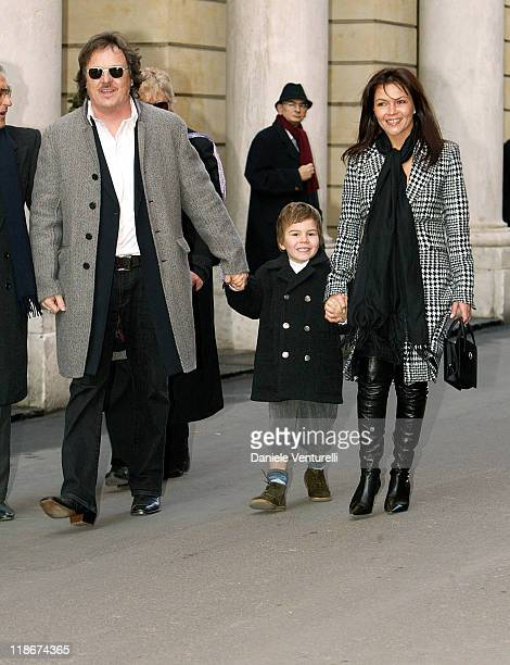 Zucchero his son Blu and wife during Luciano Pavarotti Marries Nicoletta Mantovani at Teatro Comunale in Modena in Modena Italy