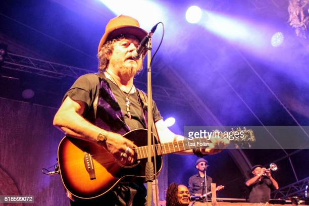 Zucchero perform on stage during the Thurn Taxis Castle Festival 2017 on July 18 2017 in Regensburg Germany