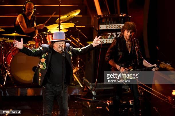 Zucchero Sugar Fornaciari attends the 70° Festival di Sanremo at Teatro Ariston on February 05, 2020 in Sanremo, Italy.