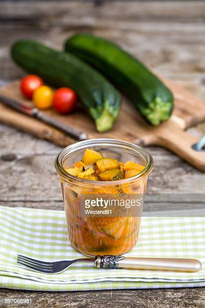 zucchini chutney - chutney stock pictures, royalty-free photos & images