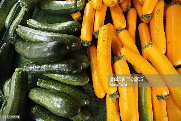 Zucchini is seen for sale at the Union Square Greenmarket on July 2 2012 in New York City New York City Mayor Michael Bloomberg announced today a new...