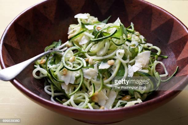 WASHINGTON DC Zucchini Noodle Salad photographed in Washington DC