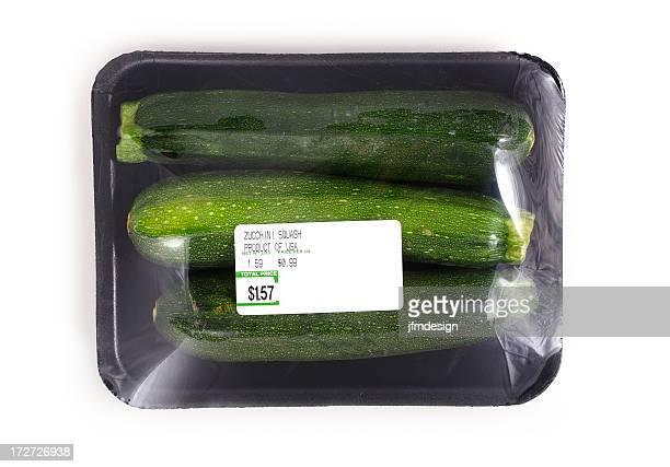 zucchini squash black foam tray