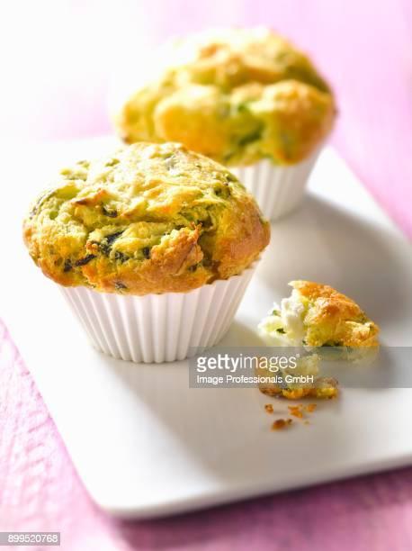 Zucchini-goats cheese muffins