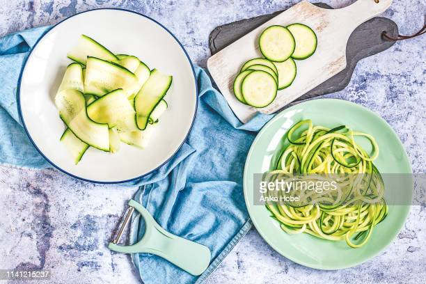 zuccini slices - zucchini stock pictures, royalty-free photos & images